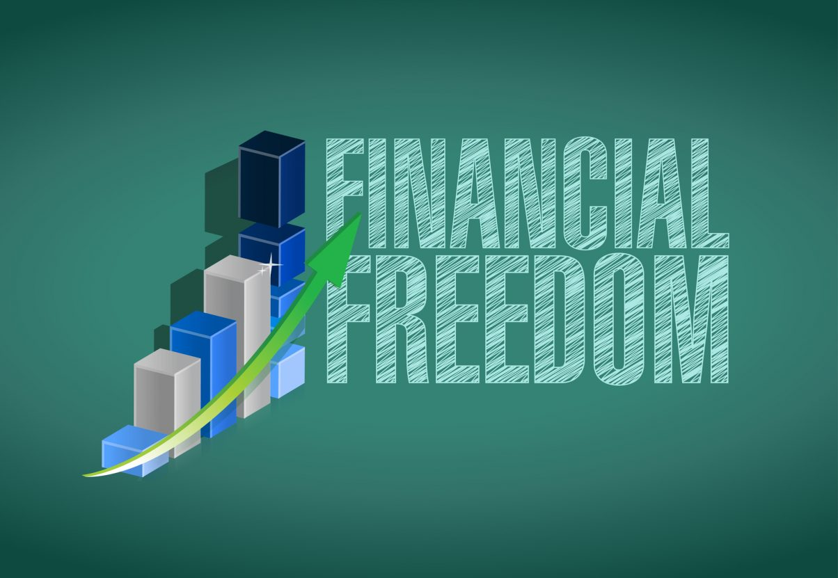 market investment financial freedom image